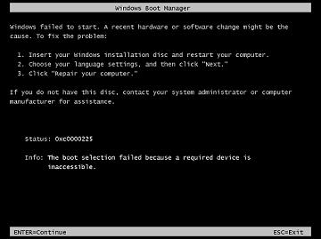 Jak opravit bootloader MBR/GPT Windows Vista, 7, 8 a 10