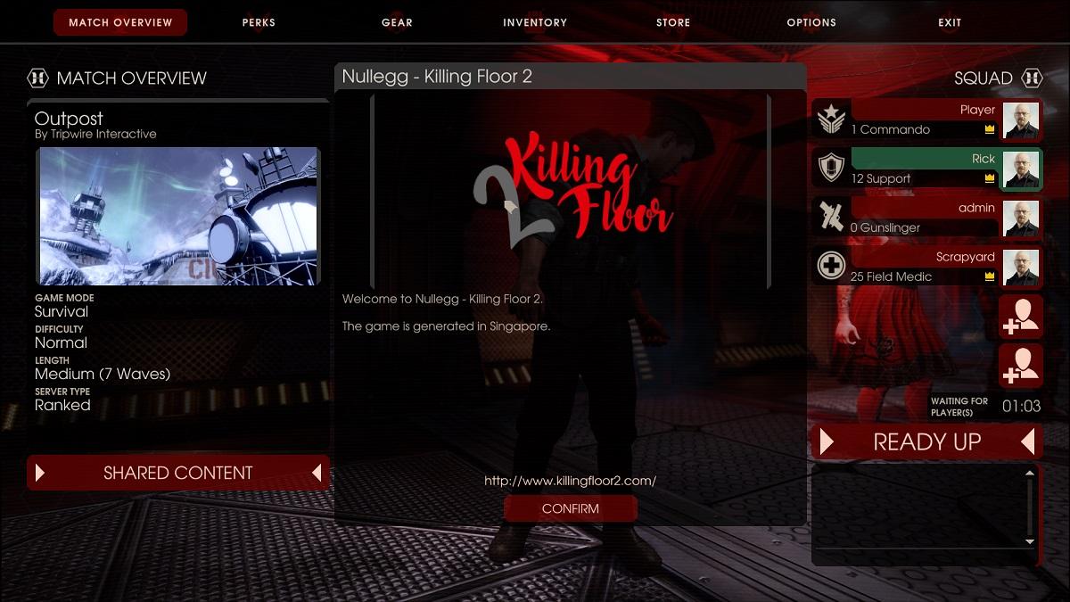 tunngle killing floor 2 server