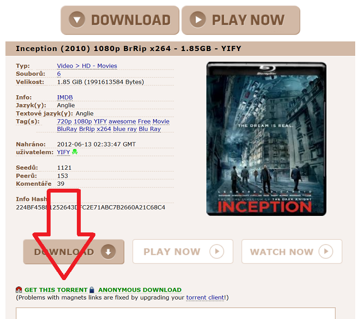 inception torrent 720p download