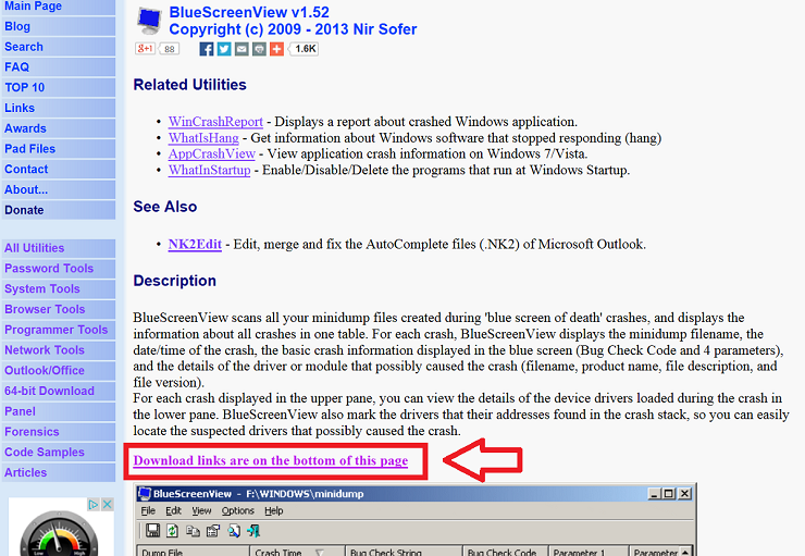 how to use nirsoft bluescreenview