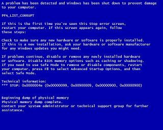 bsod memory management error windows 7